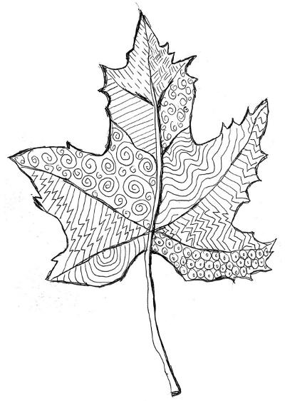 Pola Daun Pohon Ide Dan Foto Kami Menggambar Daun Musim Gugur